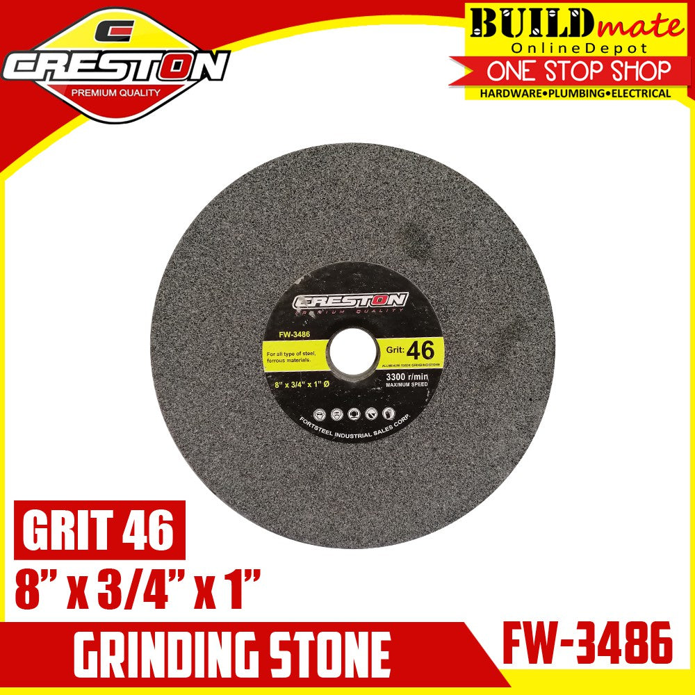 CRESTON Grinding Stone for Bench Grinder GRIT46 FW-3486