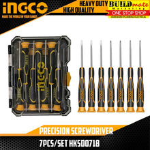 Load image into Gallery viewer, INGCO Precision Screwdriver 7pcs/SET HKSD0718