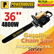 "Load image into Gallery viewer, Powerhouse 36"" Gasoline Chainsaw 4800W PH-CHSW-070-36"""