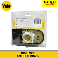 Load image into Gallery viewer, Yale Rim Lock Antique Brass V198-1/4 AB