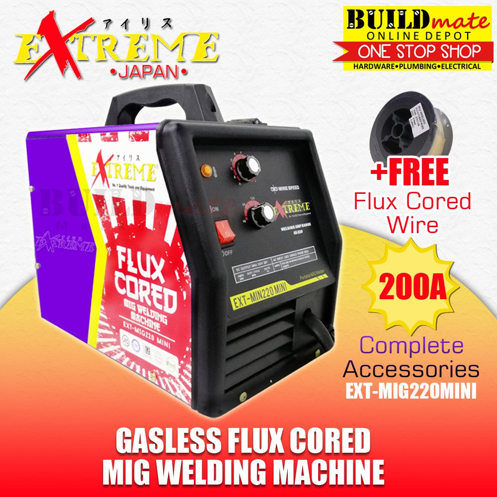 Extreme Japan 200A Gasless FLUX CORED MIG Welding Machine MIGWELD EXT-MIG220MINI