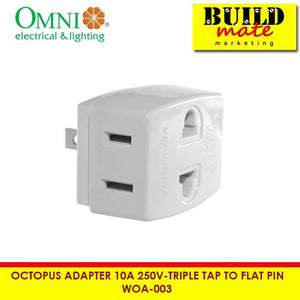 Omni Octopus Adapter 10A 250V-Triple Tap to Flat Pin WOA-003