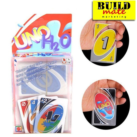 UNO Cards H20 Waterproof Clear Cards