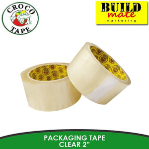 Crocodile Packaging Tape Clear/Tan 2""