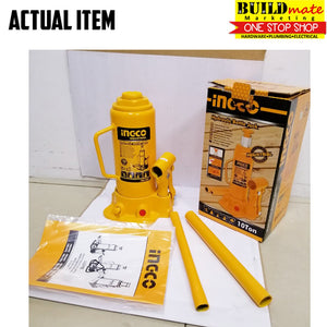 INGCO Hydraulic Bottle Jack 10TONS HBJ1002 HIGH QUALITY