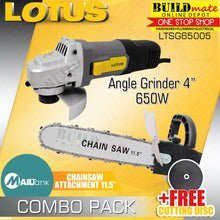 Load image into Gallery viewer, Lotus Angle Grinder LTSG6500S + MAILTANK Chainsaw Attachment Adaptor +FREE DISC