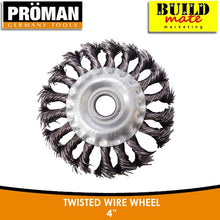 Load image into Gallery viewer, Proman Twisted Wire Wheel 4""