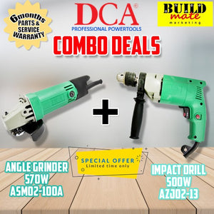DCA COMBO ANGLE GRINDER & IMPACT DRILL ASM02-100A/AZJ02-13