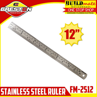CRESTON Stainless Steel Ruler FM-2512