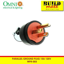 Load image into Gallery viewer, Omni Parallel Ground Rubber Plug 15A 125V WPR-003
