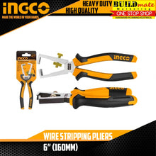 "Load image into Gallery viewer, INGCO Wire Stripping Pliers 6"" HWSP28160 •BUILDMATE•"
