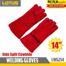 Load image into Gallery viewer, Lotus Welding Gloves Side Split Cowhide LWG214