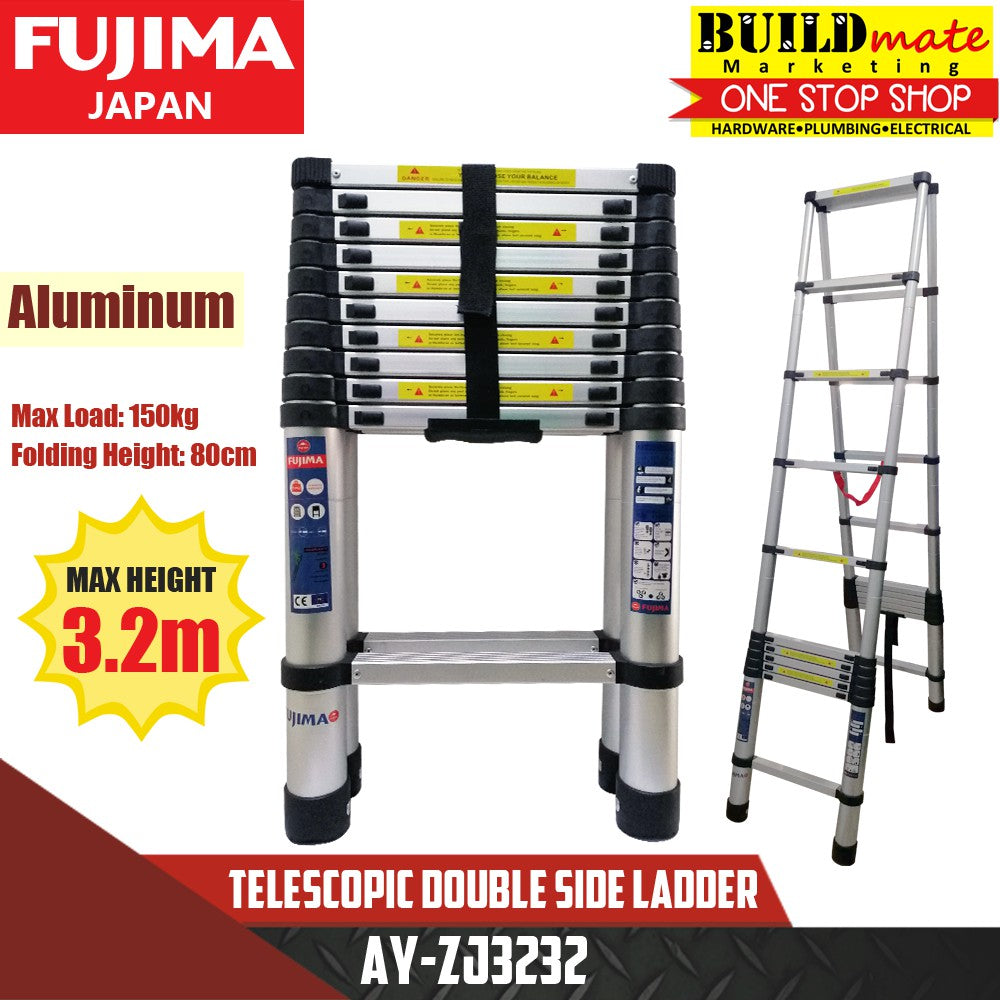 Fujima Telescopic Double Side Ladder Aluminum AY-ZJ3232