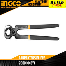 "Load image into Gallery viewer, INGCO Carpenters Pliers 8"" HCPP02200"