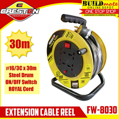 CRESTON Extension Wheel Cable Reel 30m FW-8030