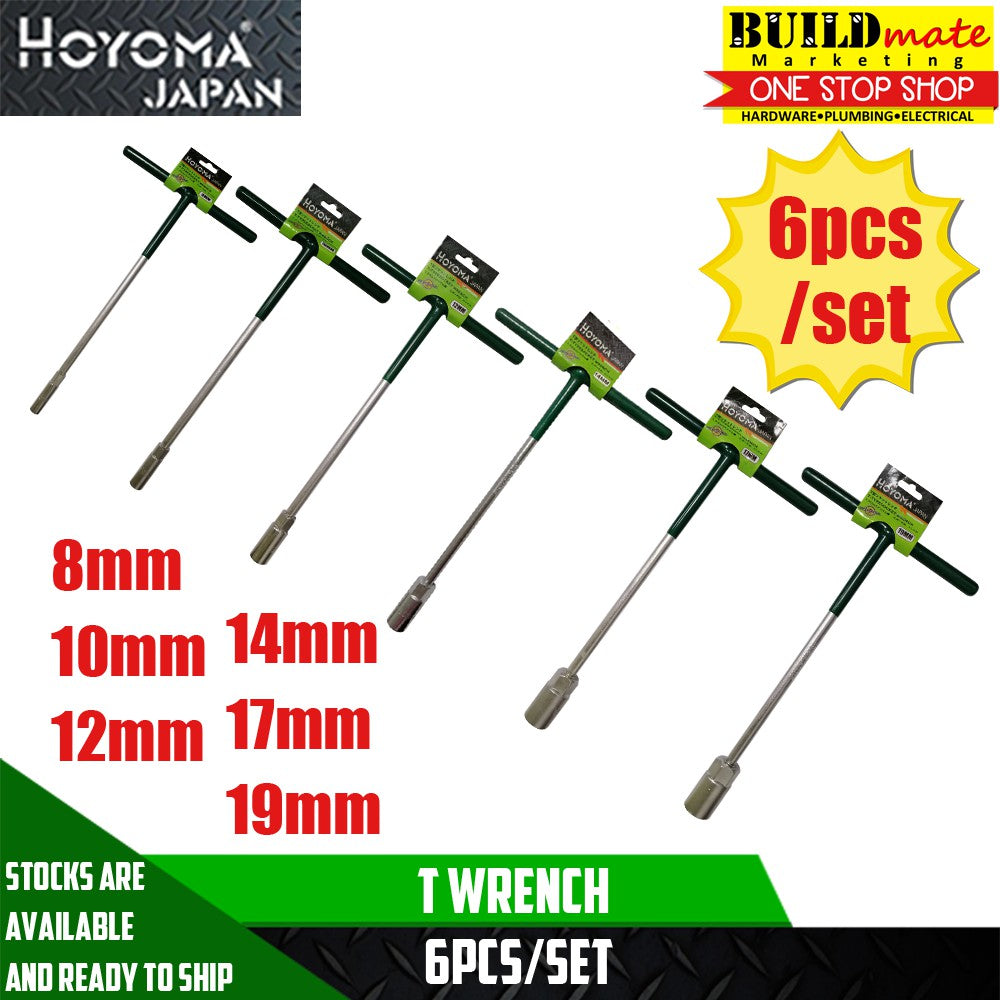 Hoyoma T Wrench 6PCS/SET 8mm/10mm/12mm/14mm/17mm/19mm
