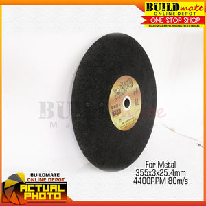 "YAMATA Cutting Disc 14"" for Metal 355 x 3.0 x 25.4mm •BUILDMATE•"