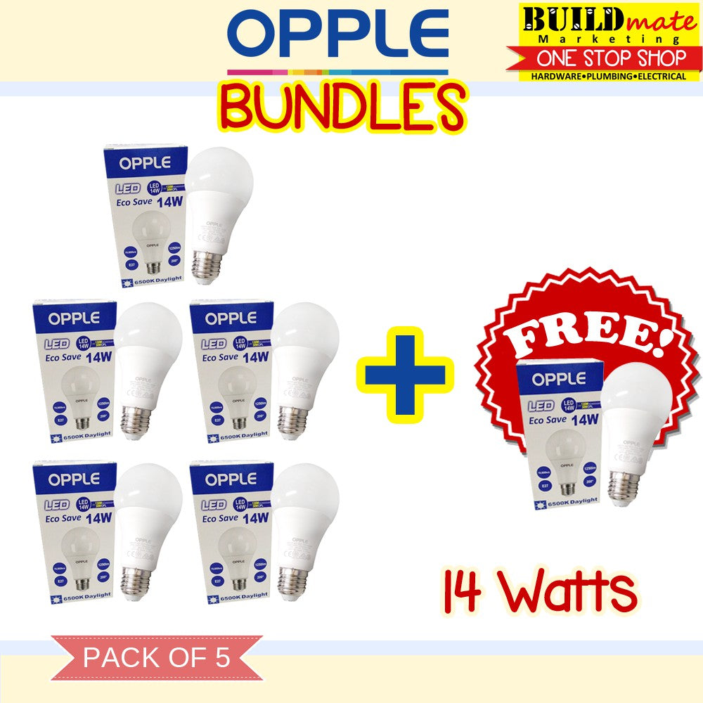 Opple Eco Save LED Bulb 14 Watts PACK OF 5+1