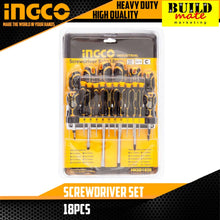Load image into Gallery viewer, INGCO Screwdriver SET 18PCS HKSD1828