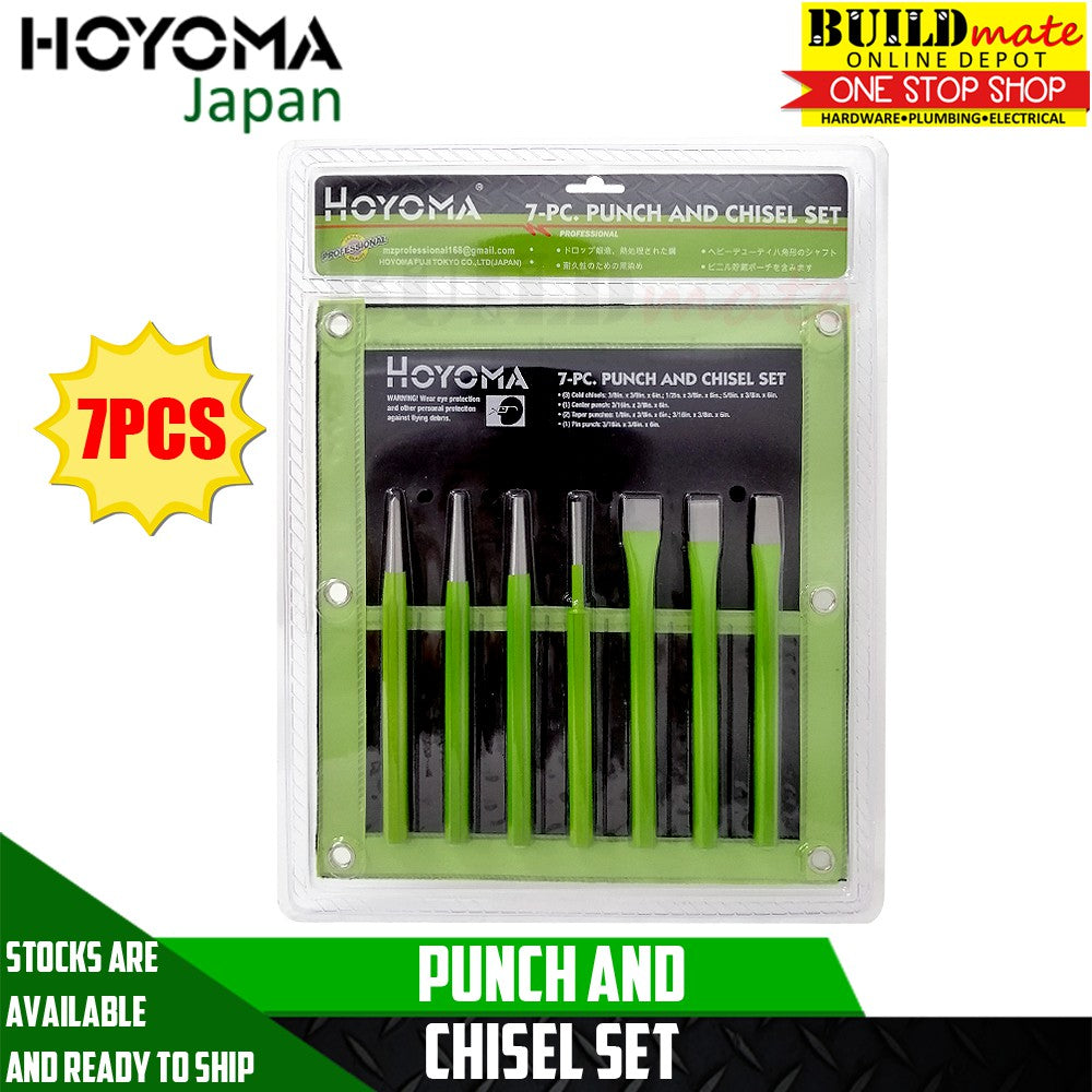 Hoyoma Punch and Chisel 7PCS/SET 100% ORIGINAL!