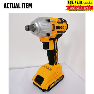 INGCO Cordless Impact Wrench BrushlessMotor 20V CIWLI2001 POWERSHARE +FREETAPEMEASURE