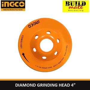 "INGCO Cup Wheel Diamond Grinding Head 4"" CGW02100"