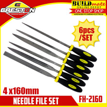 Load image into Gallery viewer, CRESTON Needle File 6pcs/SET 4x160mm FH-2160