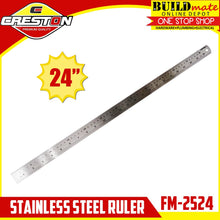 "Load image into Gallery viewer, CRESTON Stainless Steel Ruler 24"" FM-2524"