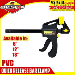 "CRESTON PVC Quick Release Bar Clamp 6"" / 12"" /18"""