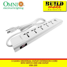 Load image into Gallery viewer, Omni 5g Universal Extension Cord w/Switch& USB Outlet USB250