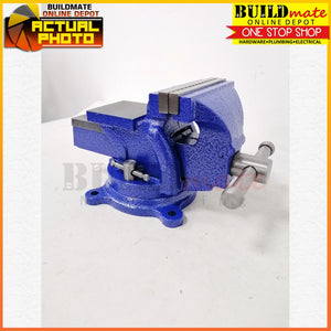 "YUKO Bench Swivel Vise with Anvil 6""  •BUILDMATE•"