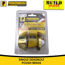 Load image into Gallery viewer, Powerhouse Single Deadbolt Antique/Polish Brass/Satin 7301AB / 7301PB / 7301SS