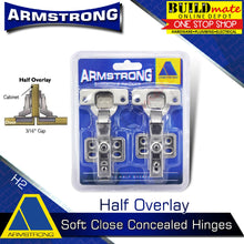 Load image into Gallery viewer, ARMSTRONG Soft Close Hydraulic Cabinet Concealed Hinges 1PAIR Heavy Duty •BUILDMATE•