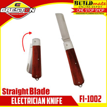 Load image into Gallery viewer, CRESTON Straight Blade Electrician Knife FI-1002