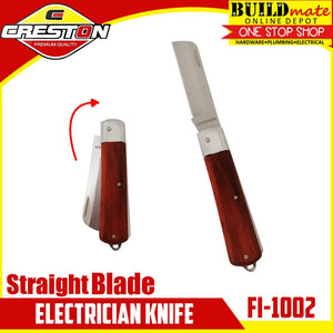 CRESTON Straight Blade Electrician Knife FI-1002