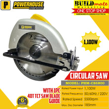 Load image into Gallery viewer, Powerhouse Circular Saw 1000W PHM-CS5800