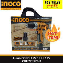 Load image into Gallery viewer, INGCO Li-Ion Cordless Drill 12V CDLI228120-2