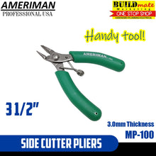 "Load image into Gallery viewer, Ameriman 3 1/2"" Side Cutter Pliers MP-100"