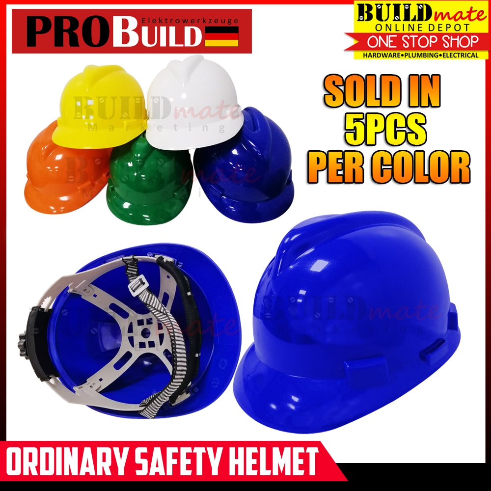 Probuild (5PCS YELLOW) Ordinary Safety Helmet Hard Hat •BUILDMATE•