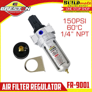 CRESTON Air Filter  / Regulator 150PSI FR-9001