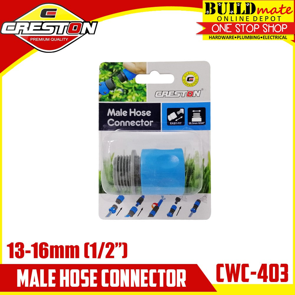 CRESTON Male Hose Connector for Garden Hose CWC-403