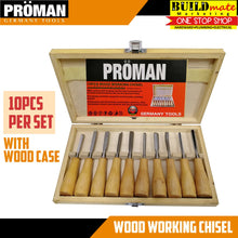 Load image into Gallery viewer, Proman Wood Working Chisel 10PCS/SET •BUILDMATE•