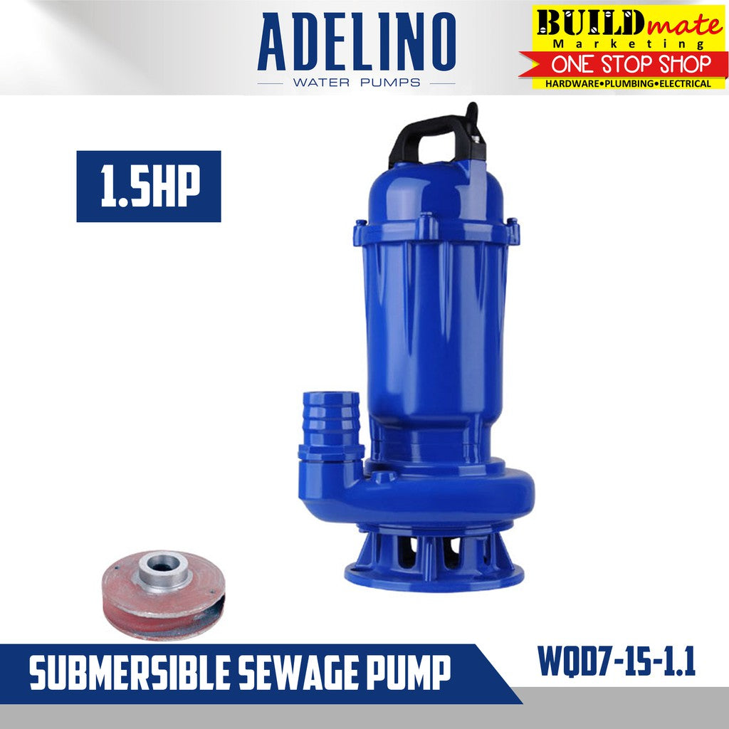 Adelino Submersible Sewage Pump 1.5HP WQD7-15-1.1