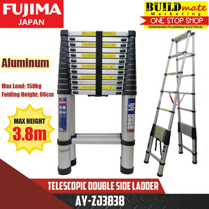 Fujima Telescopic Double Side Ladder Aluminum AY-ZJ3838