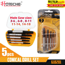 Load image into Gallery viewer, Hoteche Conical Drill Screw Extractor 5PCS/SET 610201 •BUILDMATE•