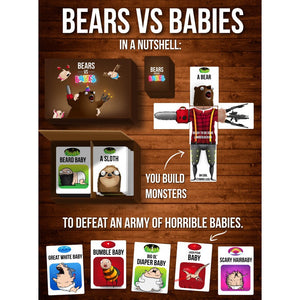 Bears vs. Babies Card Game in a Fur with Expansion