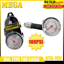Load image into Gallery viewer, MEGA Dial Type Tire Gauge w/case 100PSI AGT-100 •NEW ARRIVAL!•