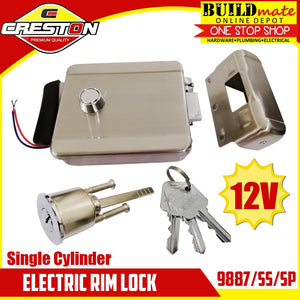 CRESTON Electric Rim Lock 12V STAINLESS STEEL 9887/SS/SP