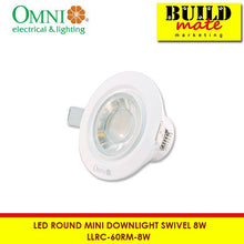 Load image into Gallery viewer, Omni 60° Round Swivel Mini Downlight LLRC-60RM-8W