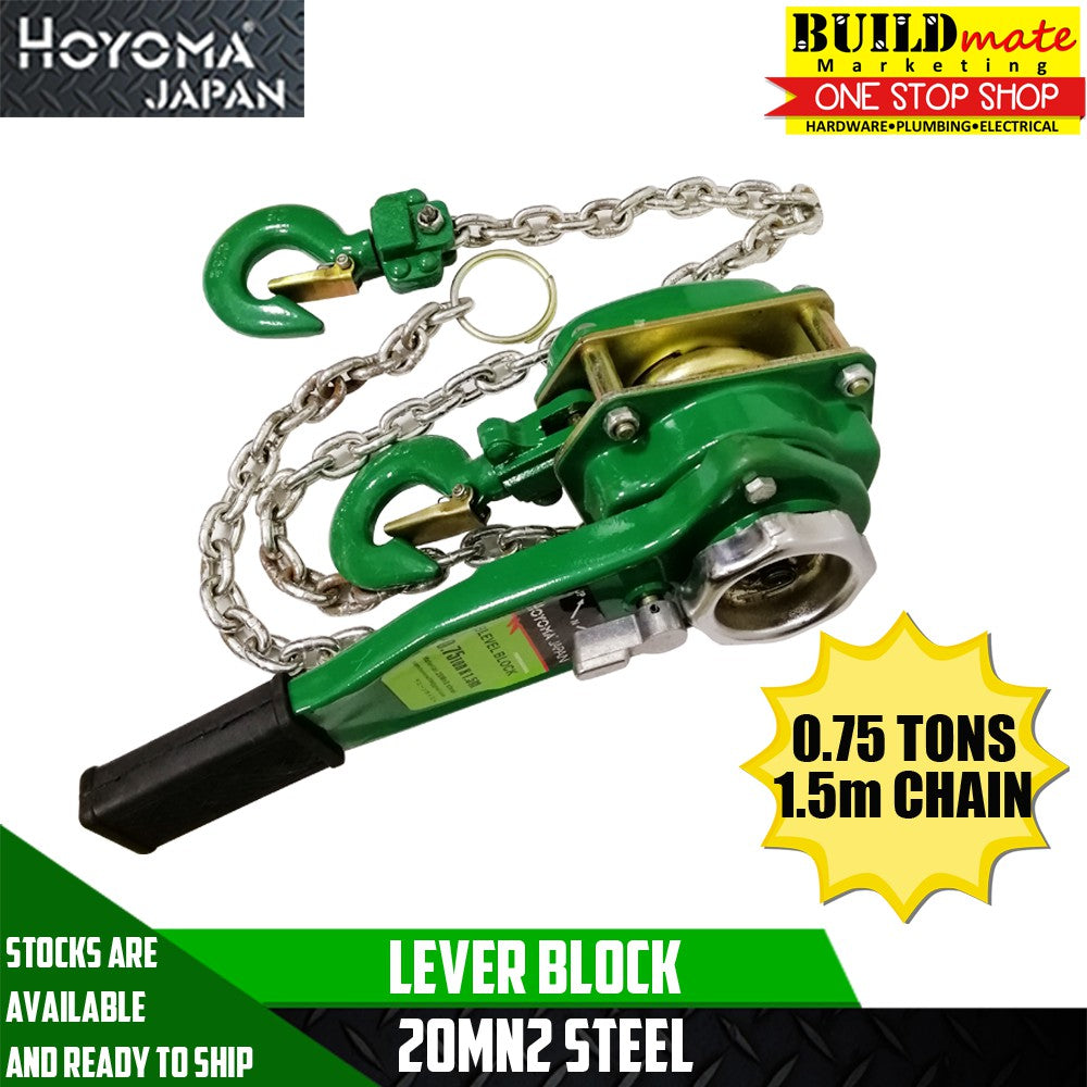 Hoyoma Lever Block 0.75 TONS x 1.5m Chains